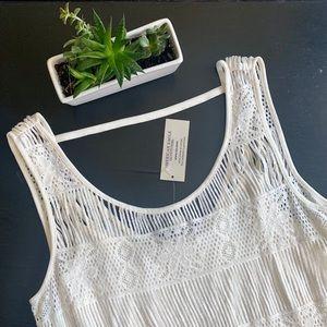 American Eagle White Fringe Dress